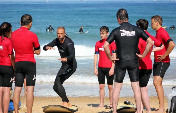 Cours de surf avec Philippe